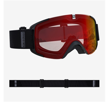 Picture of Salomon X View Black / Mid Red Goggles